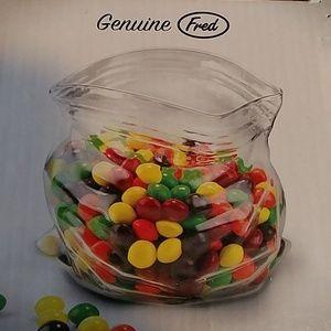 Genuine Fred unzipped bagful bowl